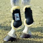 Sheepskin lined tendon boots